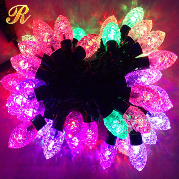 Pink Cherry Blossom flower String Lights for wedding party indoor outdoor string light decoration