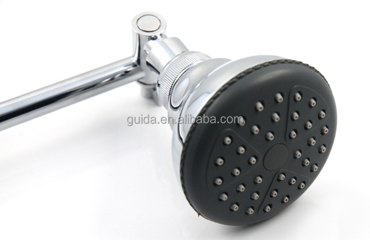 SONDA Chromed Adjustable Shower Arm With rain Shower Head