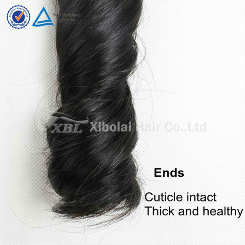 Top Quality Grade 7A Natural Color#1b Spring Curl Brazilian Hair Bundles