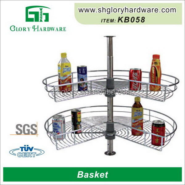 2 Layer Adjustable Stainless Steel Basket Kitchen,Stainless Steel Hanging Fruit Basket