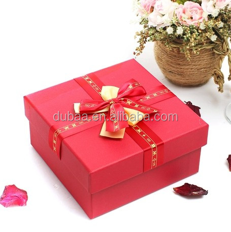 2016 Wedding Gift Packaging OEM Box,Wholesale Luxury Paper Red Gift Boxes,Christmas Gift Paper Box