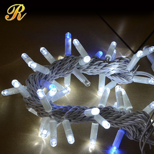 Christmas decorative outdoor white string lights