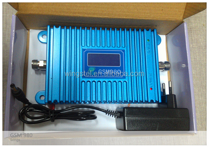 LCD GSM980 moblie signal repeater 900MHz coverage 2000m2 hot sale indoor signal booster