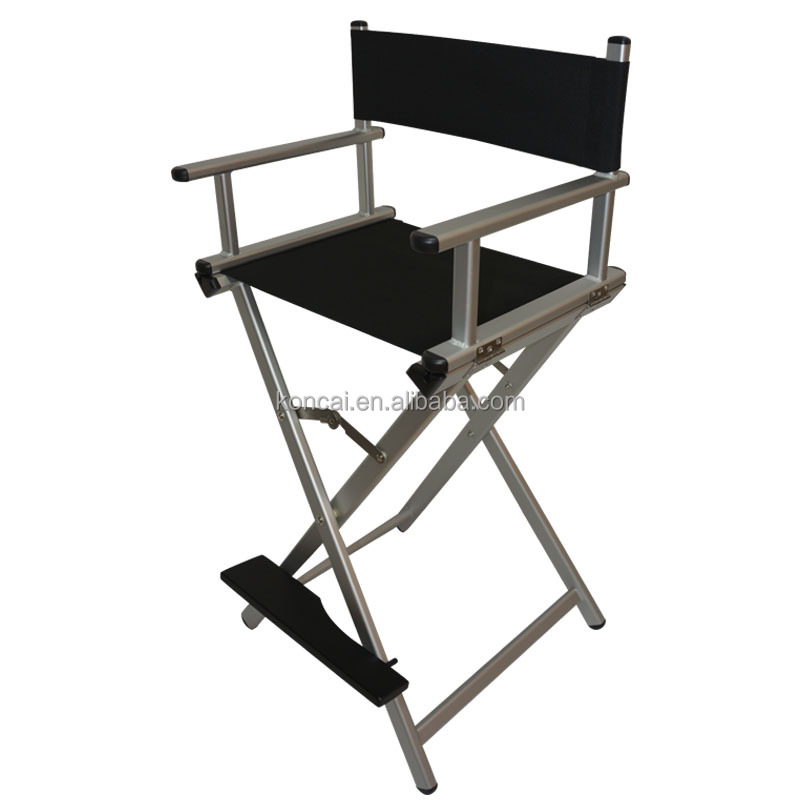 Portable salon hair dressing aluminium makeup chair, Aluminum makeup artist chair, can load Max. 120KG
