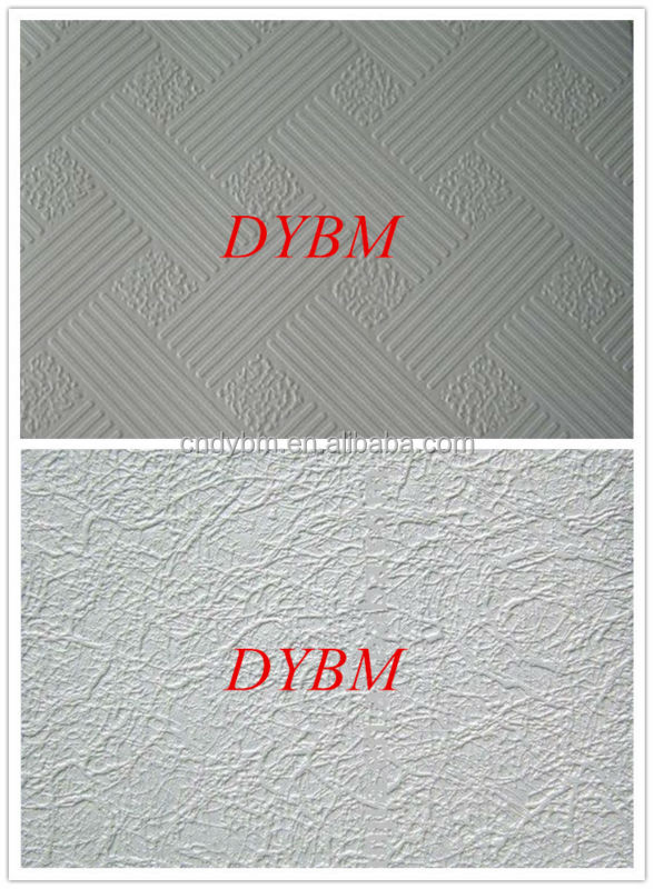 pvc laminated gypsum ceiling / pvc coated gypsum board