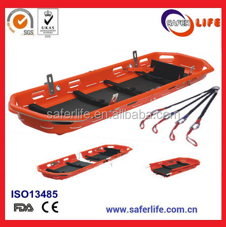 Hospital Transfer Basket Stretcher Immobilization Spine Board Aluminum Alloy Foldaway Stretcher