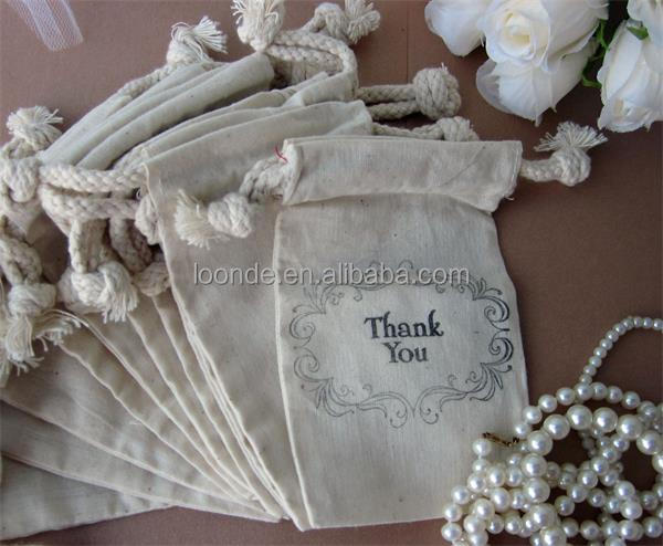 cotton jewellery pouches