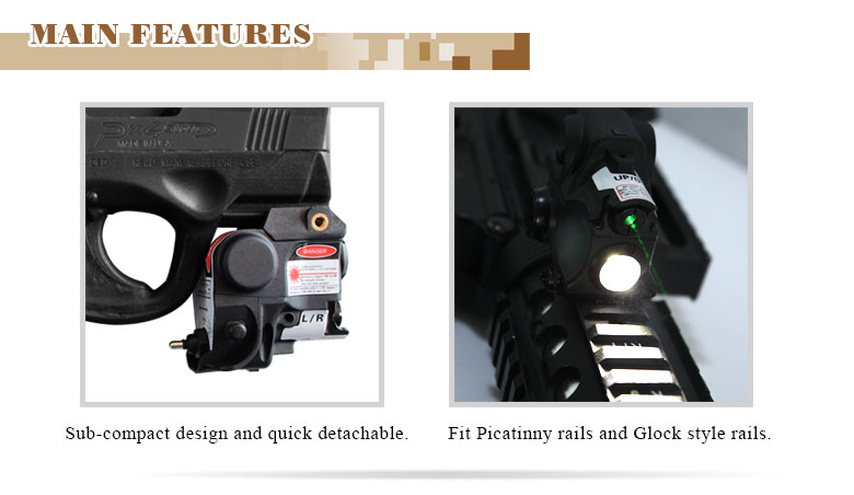 police equipment laser gun sight and flashlight combo