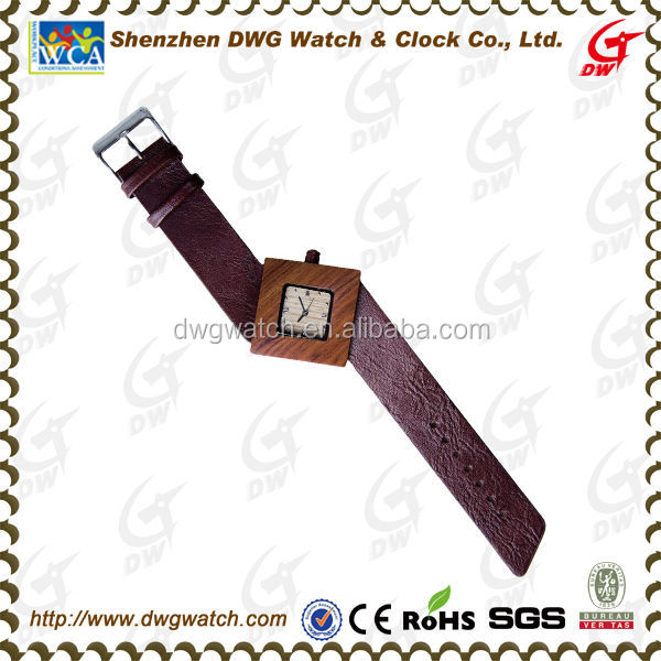 Square Wood Watch Bamboo