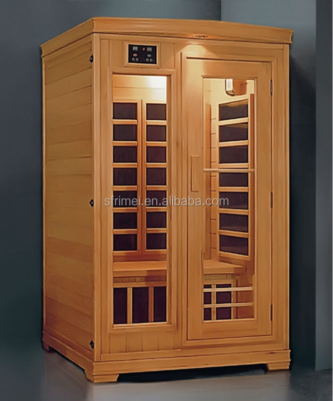 1-2 People Capacity Solid Wood Portable Infrared Sauna K-7118