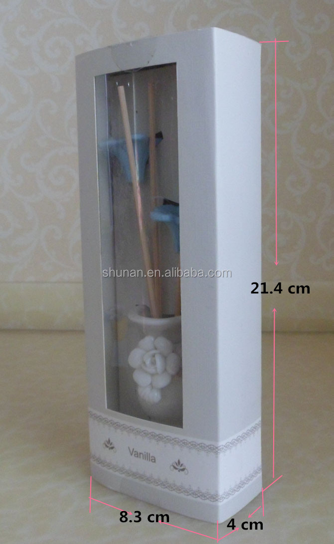 15ml reed diffuser/ ceramic vase, plaster flowers