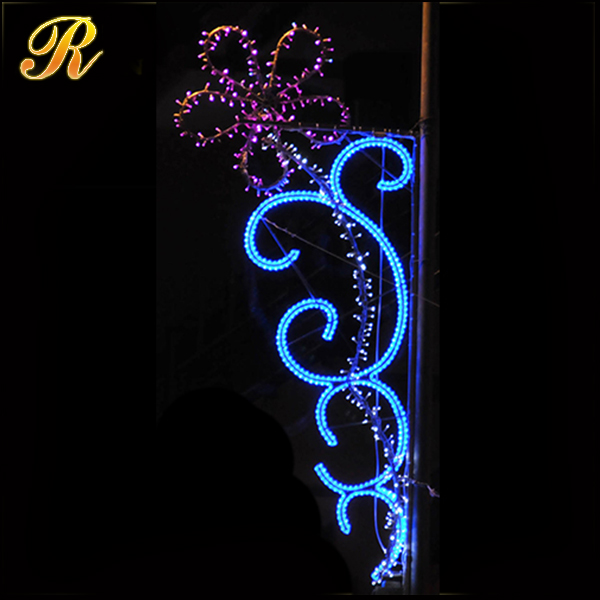 Outdoor 2D lighted daisy led flower for holiday decoration