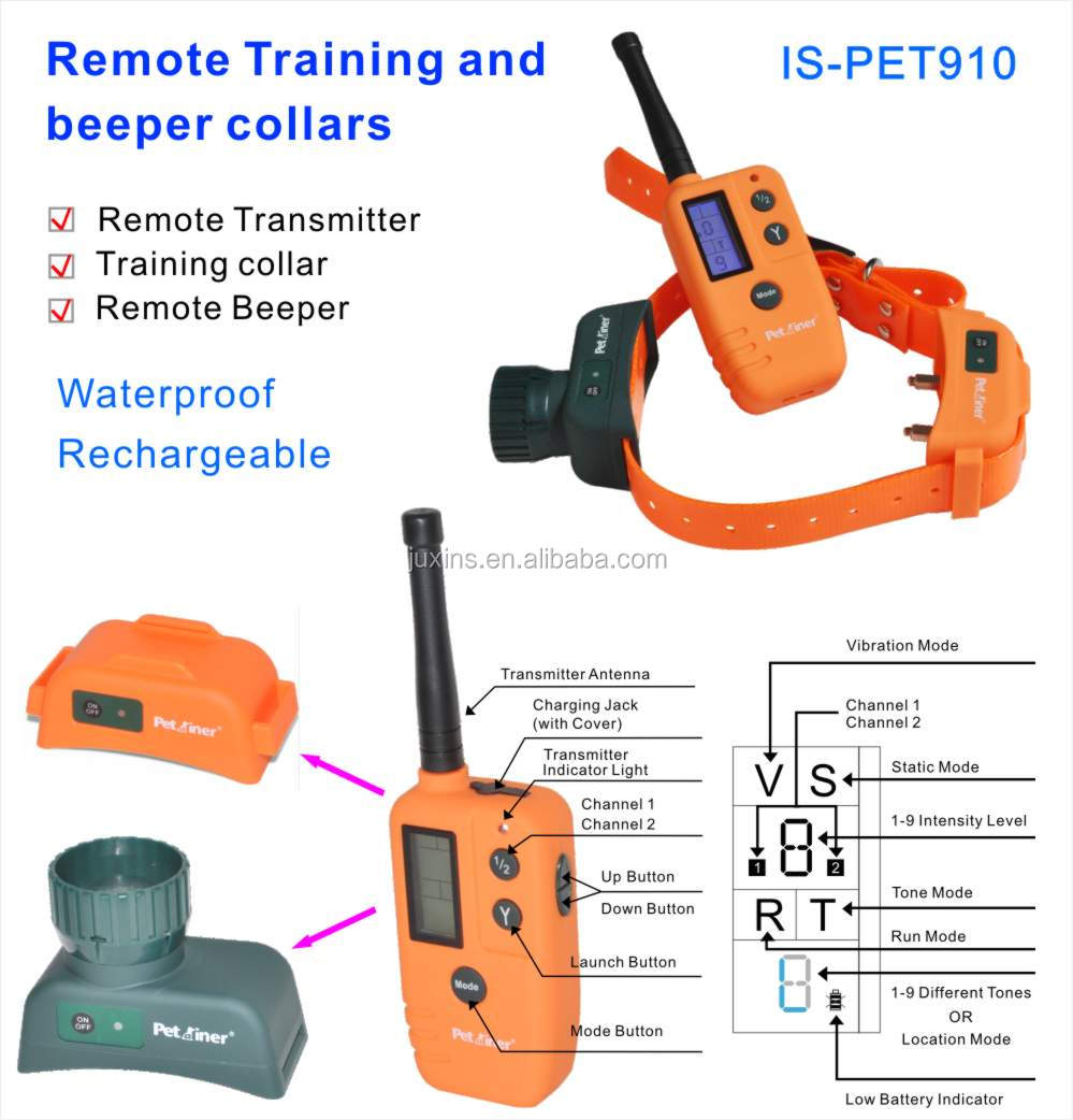 electronic dogs training collars with tpu strap