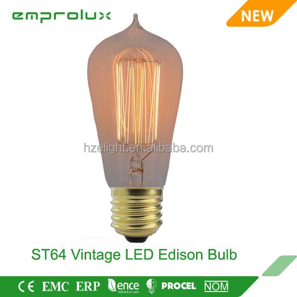 Modern st64 led super high lumen edison led bulb lights for Buyers choice light bulbs