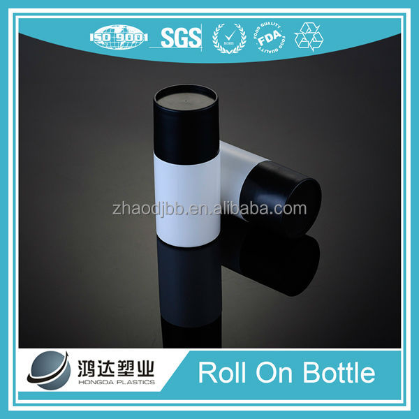 HDPE Plastic Cosmetic Deodorant Roll On Bottle Packaging 50ml