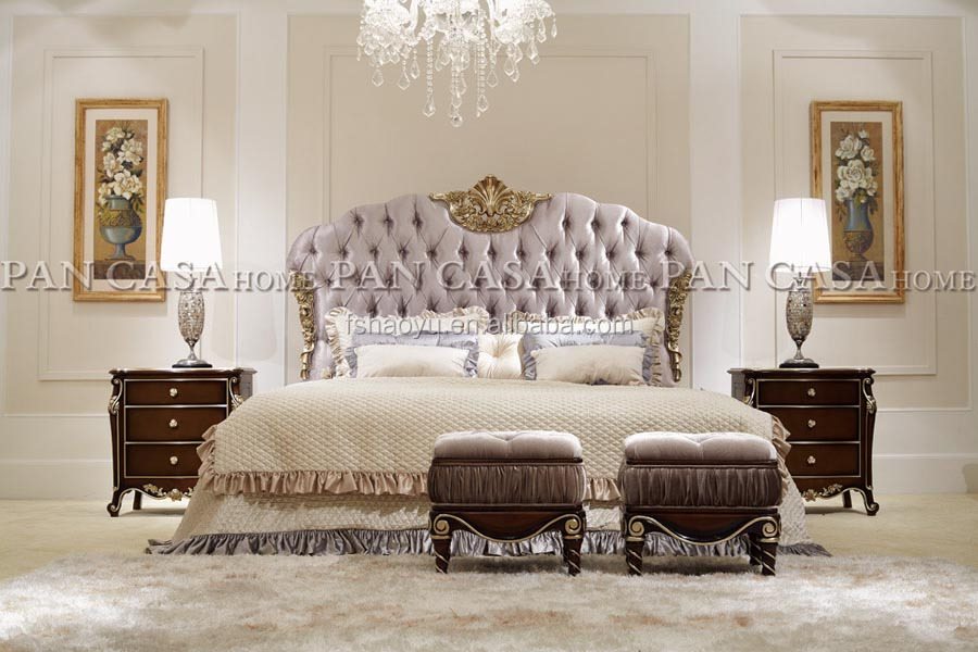 Royal Style Bed/spanish Style Beds/french Provincial Bedroom Furniture Bed