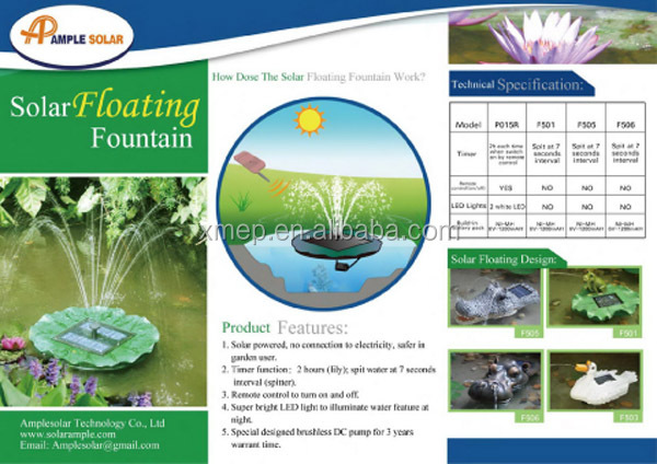 Floating Solar Water Fountain Pump System with Remote Control