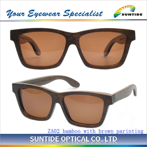 (ZA01) A+++ wholesaleBamboo Sunglasses