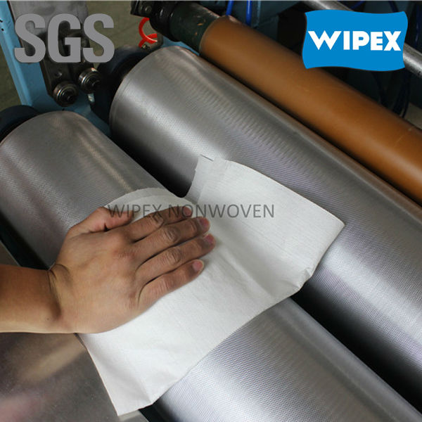 reusable high performance spunlace nonwoven cloth householdwipe