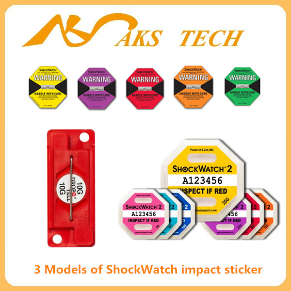 Impact Label ShockWatch Indicator in Packaging Label