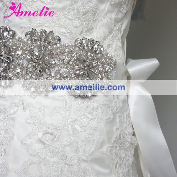 Wholesale Crystal Bridal Belt Sash For Wedding Dress