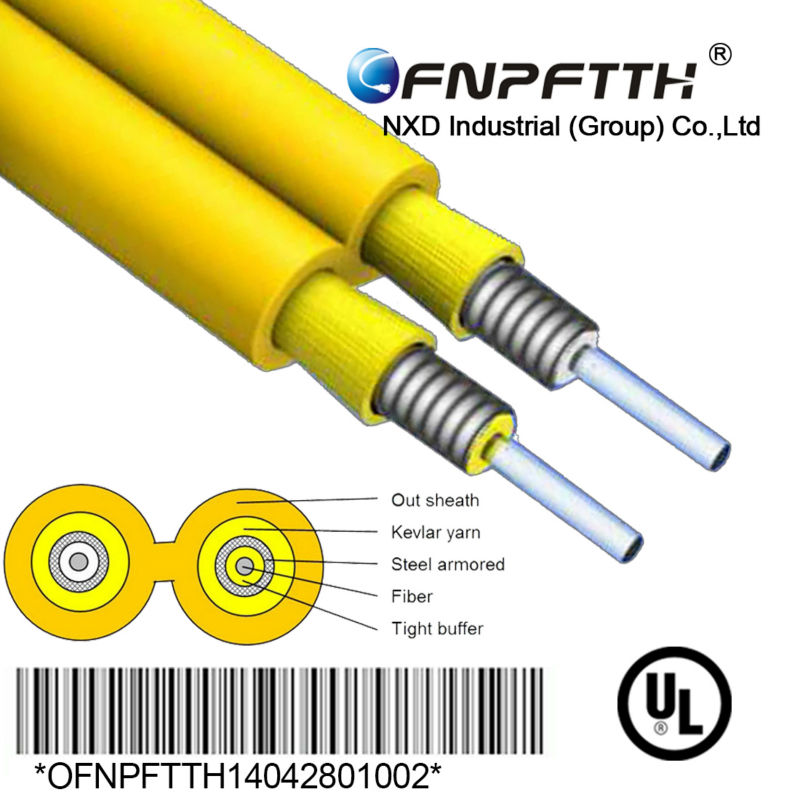 Indoor Armored Anti-rodent Duplex Fiber Optic Cable