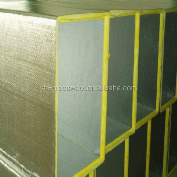 Air conditioner insulation duct board rigid fiberglass for Glass fiber board insulation