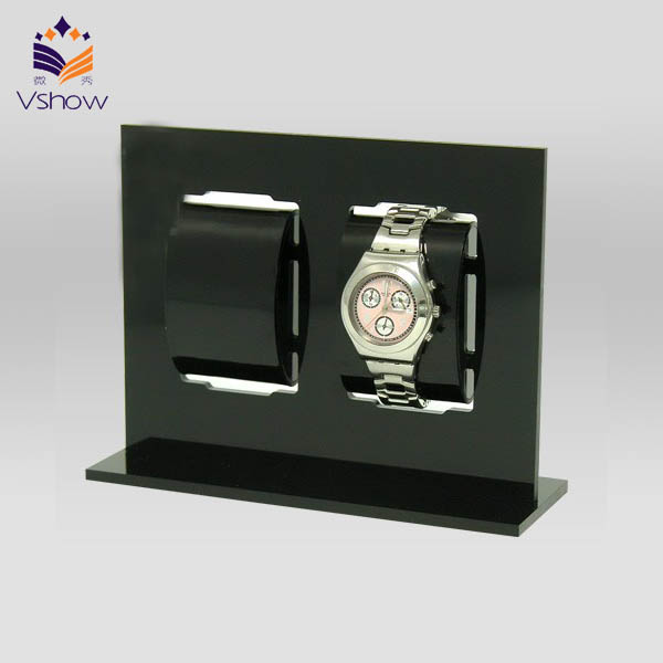 Hand rotating new coming acrylic wrist watch display stand mall