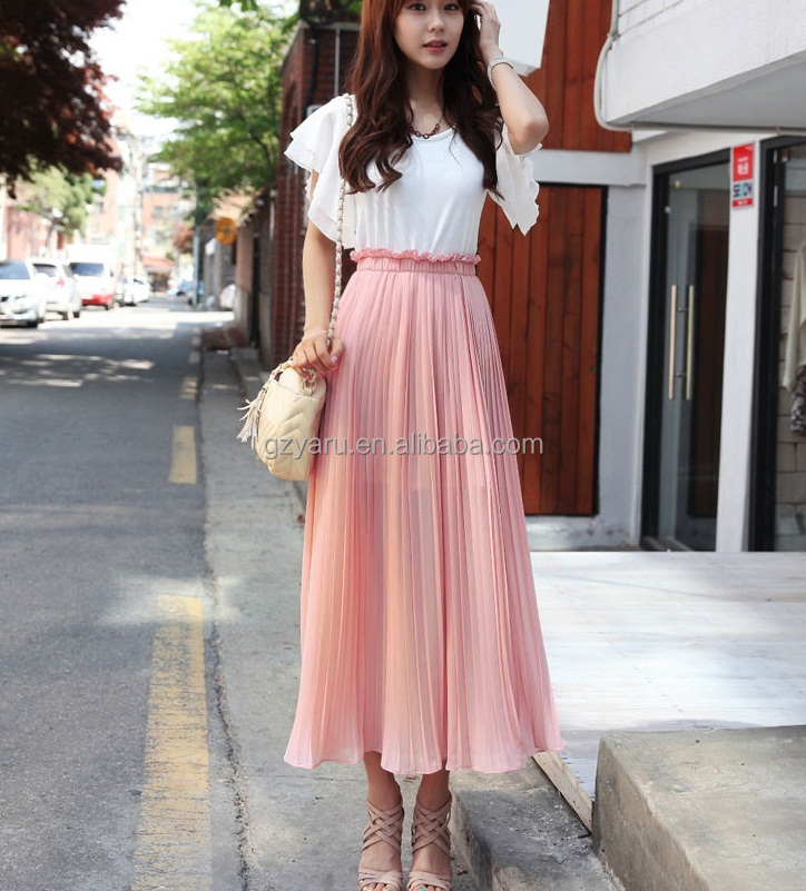 women blouse korean clothes skirt with contrastindian