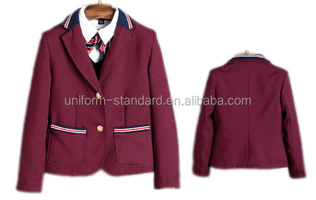 wholesale red color long sleeve school track suits