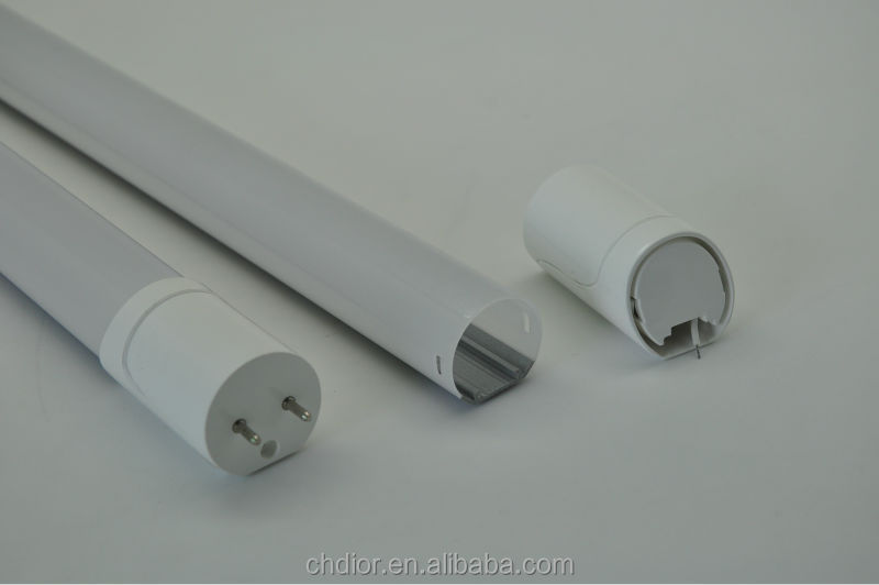 Exporter manufacturer of T8 led PC tube light shade and led tube light housing and led tube parts with end caps