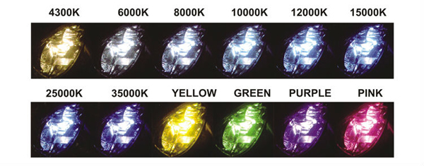 universal motorcycle headlights with double angel eyes hid projector lens