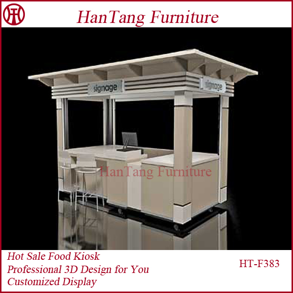 Simply fashion style coffee shop coffee station furniture for Exterior kiosk design
