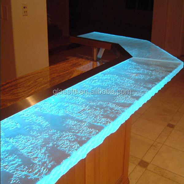 Luxury Led Lit Glass Countertops Acrylic Bar Counter Buy