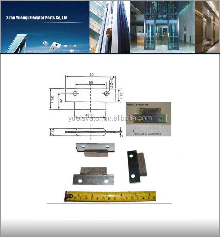 elevator door slider SYJO7593D1 elevator slider suppliers