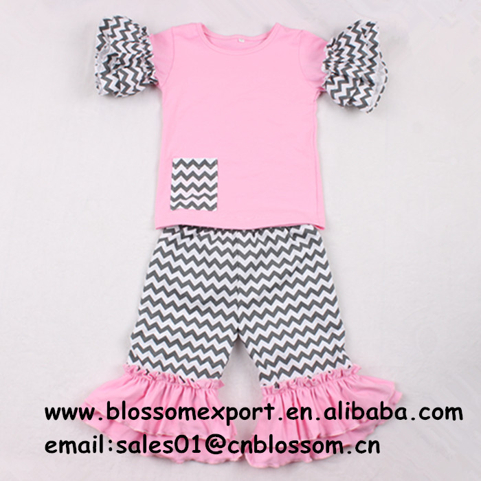 2016 lovely hot pink with dots the lovers day wholsales cotton baby outfit