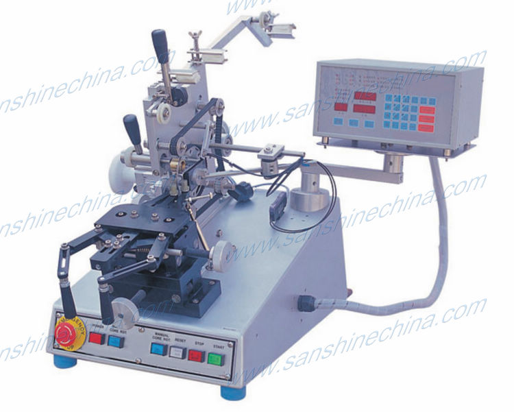 automatic power factor corrector toroid coil winding machine(SS900B8 series final OD 20~150mm) replace RUFF toroidal winder