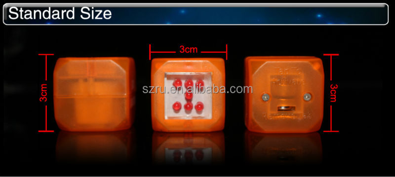 Customized children like led flashing dice for party supply