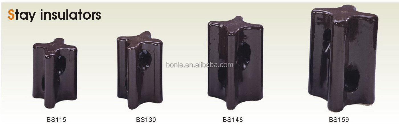 BS115, BS130, BS148, BS159 Porcelain Stay Insulator