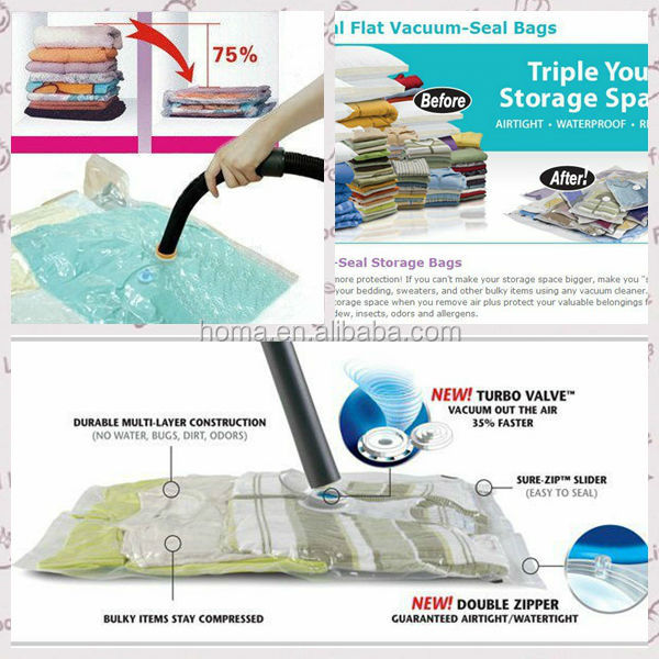 Top quality updated vacuum compressed bag ziplock bag