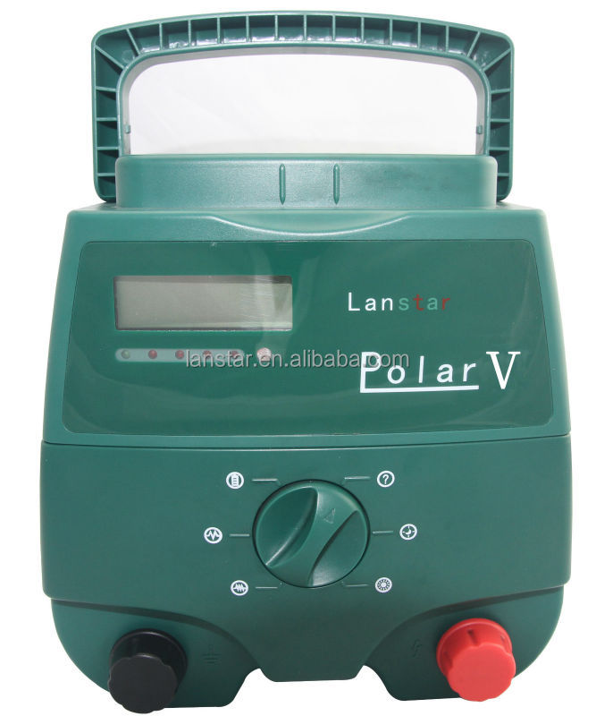 5J LCD animals solar power security electric fence energizer