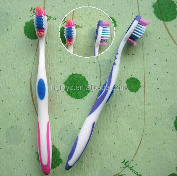 Plastic bristles small head nano silver toothbrush factory
