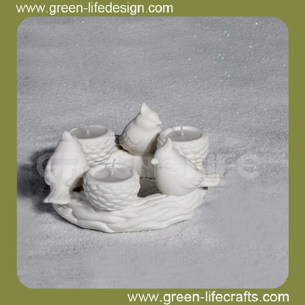 Elegant ceramic bird water feeder