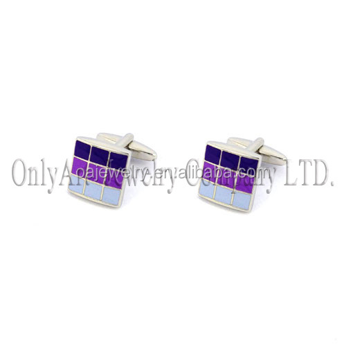 wholesale free sample top quality rose gold color cufflinks