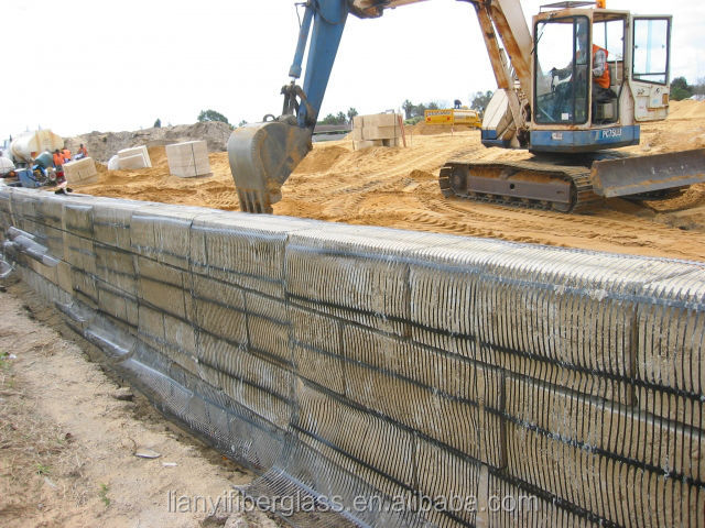 PP/HDPE plastic uniaxial geogrids for road construction,polypropylene mesh