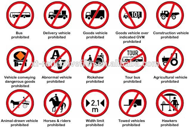 Traffic rule roadway safety reflective traffic road signs buy