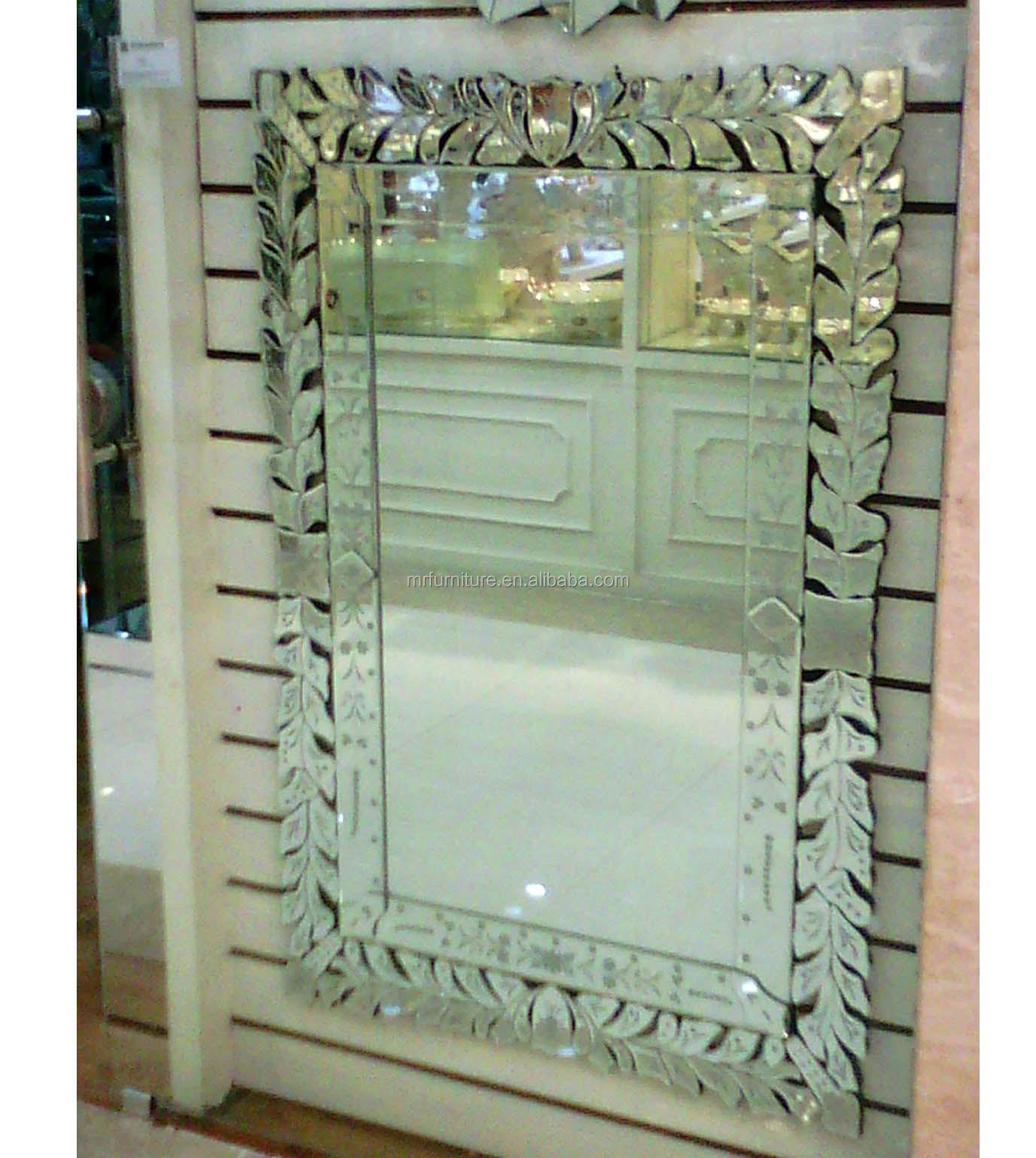 große venezianische Lean spiegel mit blätter blumen-Spiegel-Produkt ...