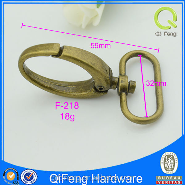 exported quality anti brass swivel carabiner hook of bags fittings