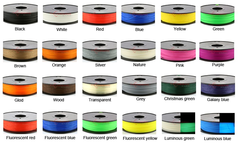 ABS/PLA/Flexibel filament for FDM desktop printer,1kg/spool