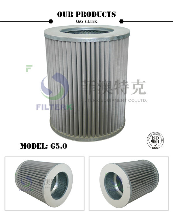 FILTERK G5.0 10 Micron Natural Gas Filter Element